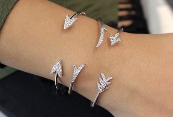 925 Silver Byblos Bangle angle