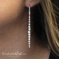 18K White Gold  Fashion Earrings angle