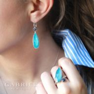 925 Silver Fashion Earrings angle
