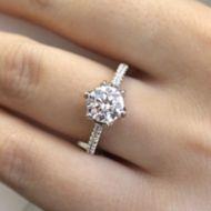 Rocio 18k White Gold Round Straight Engagement Ring angle