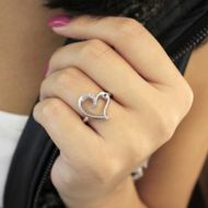925 Silver Eternal Love Fashion Ladies Ring angle