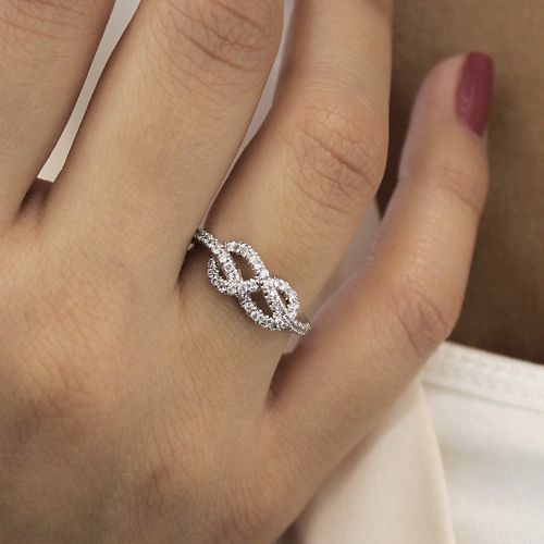 14K White Gold Eternal Love Infinity Ring