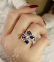 14k White Gold Lusso Color Fashion Ladies' Ring angle