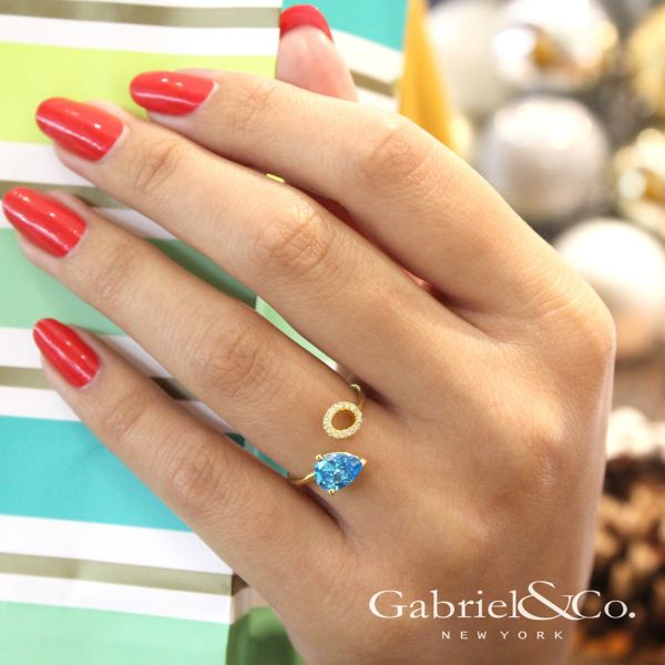 14k Yellow Gold Lusso Color Fashion Ladies' Ring angle