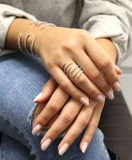 14K White Gold Diamond Ladies' Ring angle