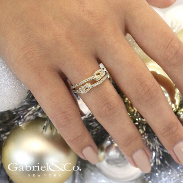 14k Yellow Gold Eternal Love Fashion Ladies' Ring angle