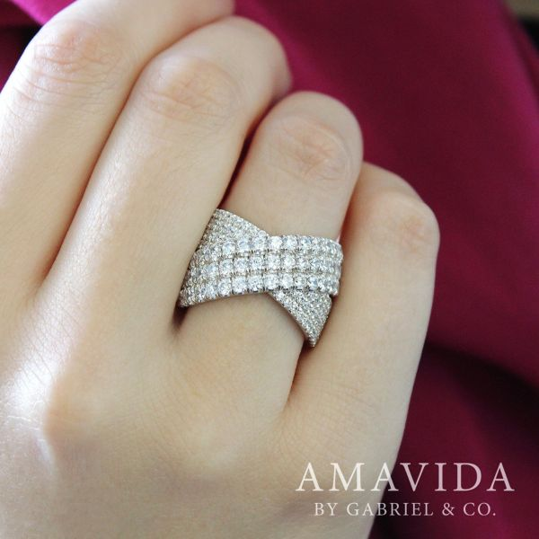 18k White Gold Contemporary Wide_band Ladies' Ring angle