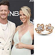 Hayley Hubbard, wife of Florida Georgia Line singer Tyler Hubbard,  wearing Gabriel & Co. to the 2019 Billboard Awards in Las Vegas!