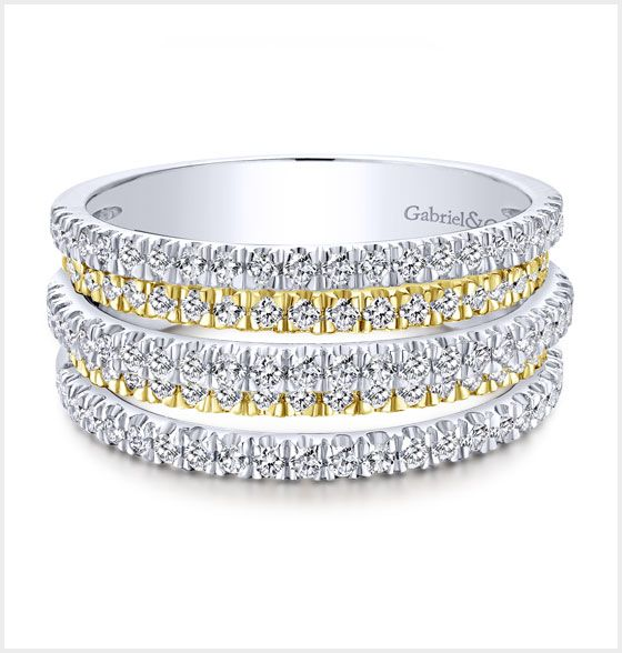 Yellow/White Gold Diamond Ladies' Ring