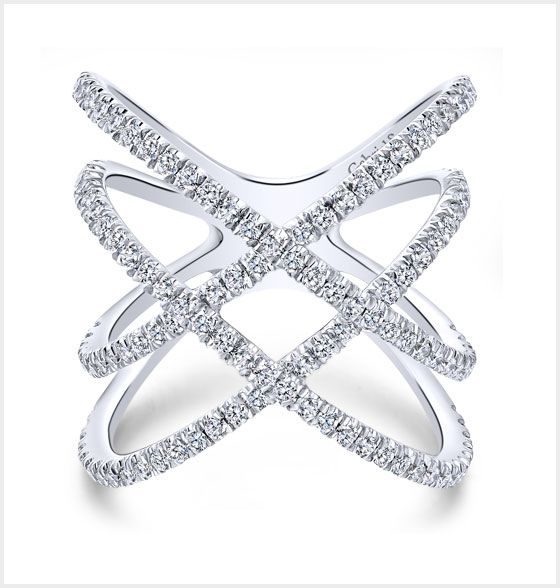 White Gold Diamond Ladies' Ring