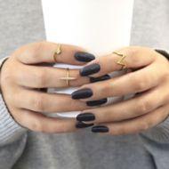 14k Yellow Gold Diamond Midi Ladies Ring angle