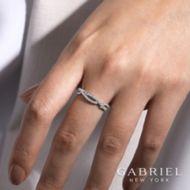 14K White Gold Fashion Ladies' Ring angle