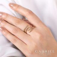 14K Yellow Gold Fashion Ladies' Ring angle