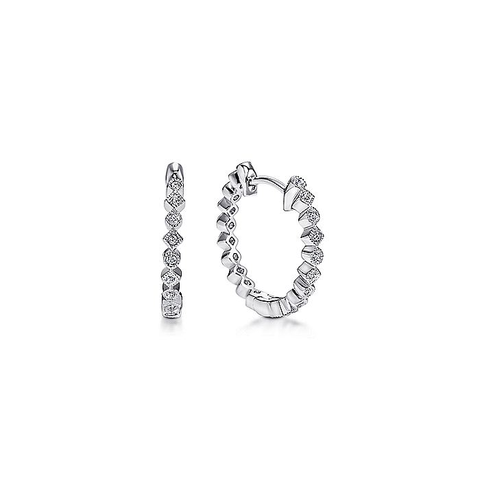 Lusso Huggie Diamond Earrings