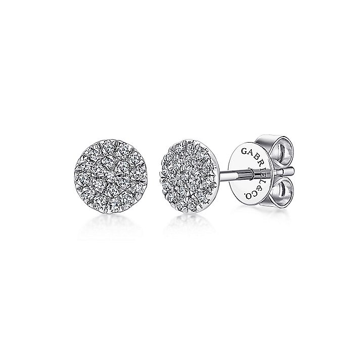 Cluster Diamond Stud Earrings (.11ct diamond)