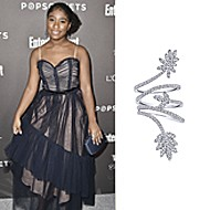 Actress Lyric Ross wearing Gabriel NY during the Pre-SAG Award Party