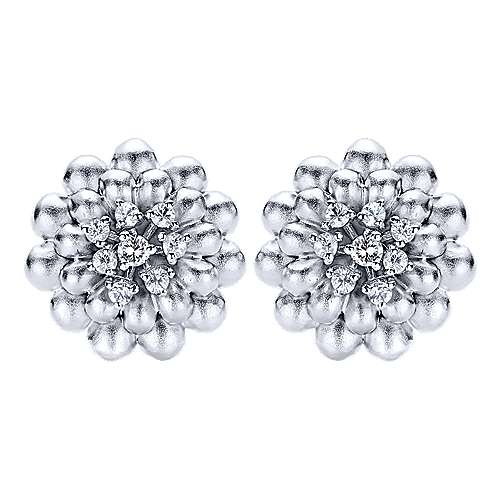 925 Silver Floral Stud