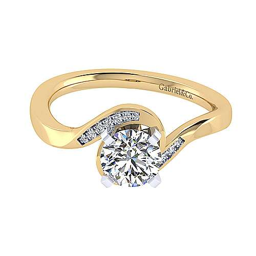 14k Yellow/white Gold Contemporary