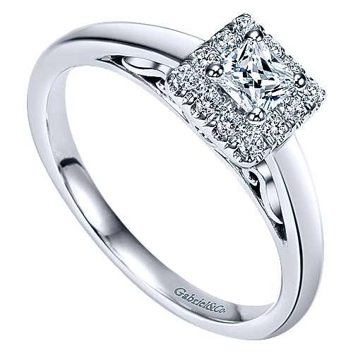 14K & Diamond Eng.Ring         angle 3