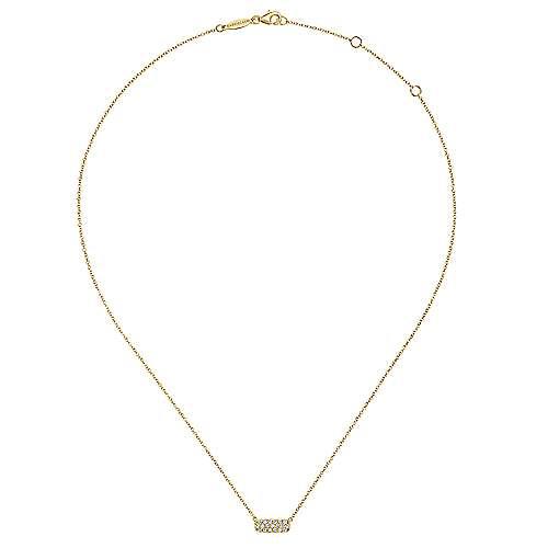 14K  Ylw Gold Diamond Necklace angle 2