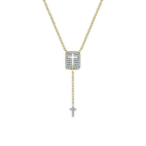 14K  Ylw Gold Diamond Necklace