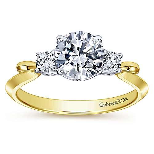 14K Diamond Engagement Ring    angle 5