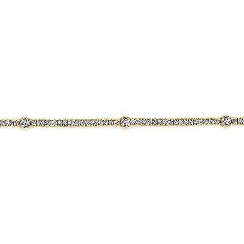 14K Gold Dia Bracelet angle 2