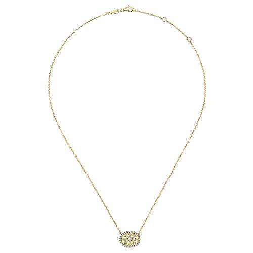 14K Gold Dia Necklace angle 2
