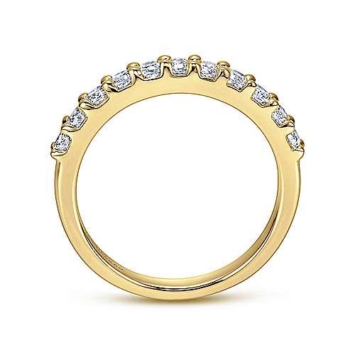 14K Gold Diamond An.Band  angle 2