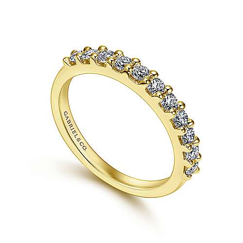 14K Gold Diamond An.Band  angle 3