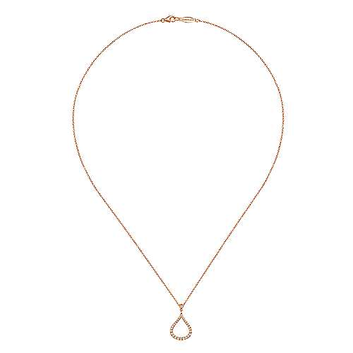 14K P.Gold Dia Necklace angle 2