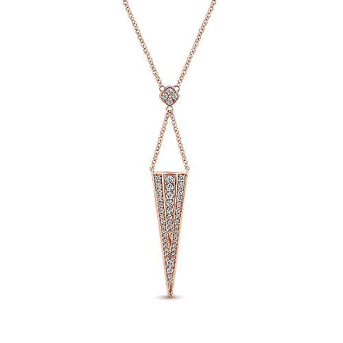 14K P.Gold Dia Necklace angle 1