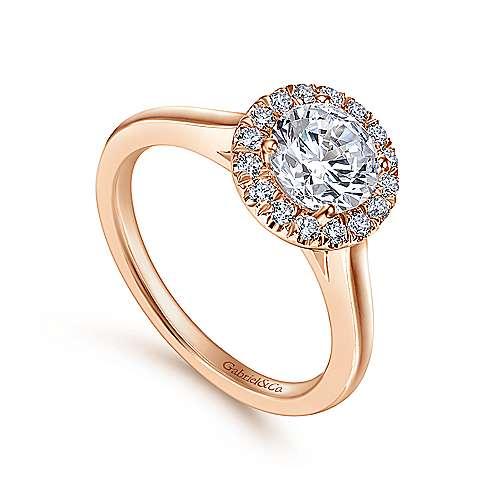 14K P.Gold Diamond Eng.Ring    angle 3