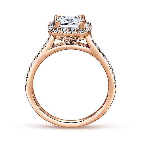 14K P.Gold Diamond Eng.Ring angle 2