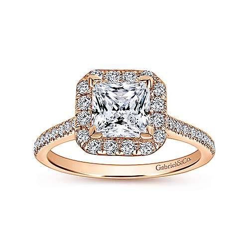 14K P.Gold Diamond Eng.Ring angle 5