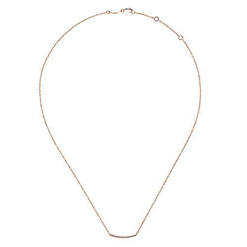 14K P.Gold Diamond Necklace angle 2