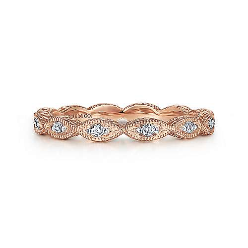 Gabriel - 14k Pink Gold Stackable Ladies' Ring