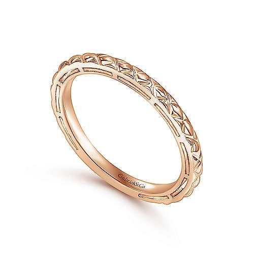 14K Pink Gold Ring     angle 3