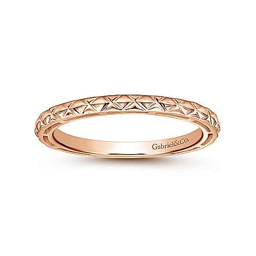 14K Pink Gold Ring     angle 4