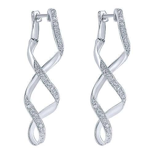 Gabriel - 14k White Gold Silk Drop Earrings