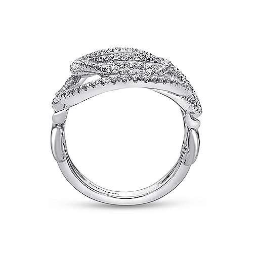 14K W. Gold Dia Ring angle 2