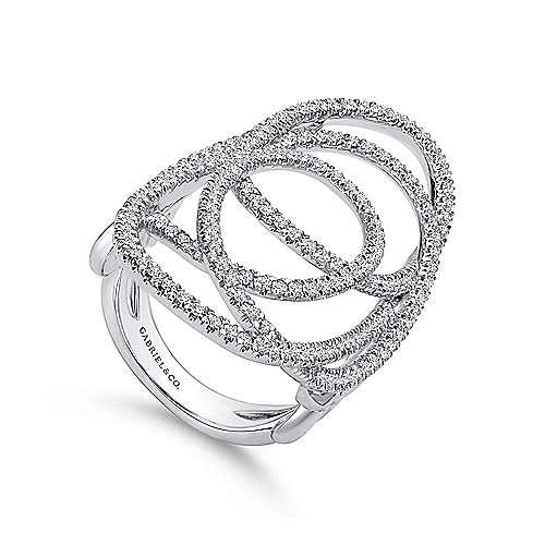 14K W. Gold Dia Ring angle 3