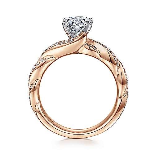 14K W/P Gold Dia Eng.Ring angle 2