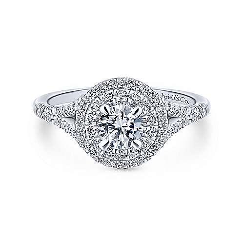 Gabriel - 14k White/pink Gold Blush Engagement Ring
