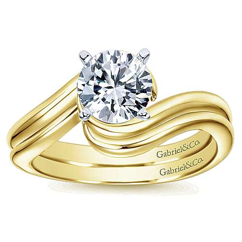 14K W/Y Gold Eng Ring angle 4
