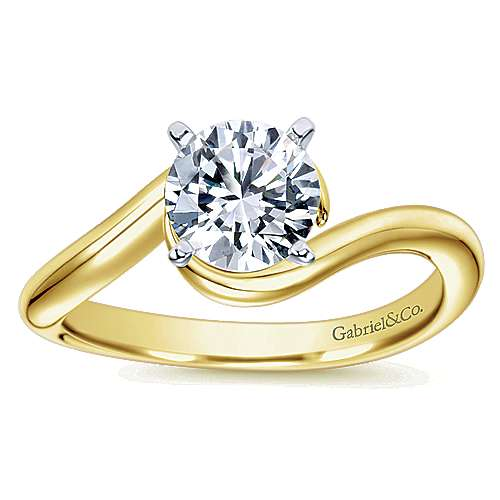 14K W/Y Gold Eng Ring angle 5