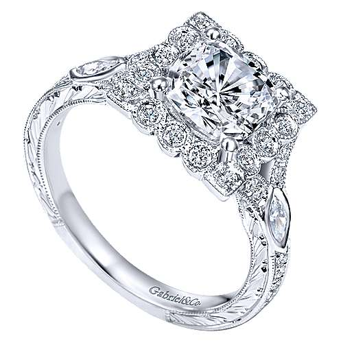 14K WG Dia. Engagement Ring   angle 3