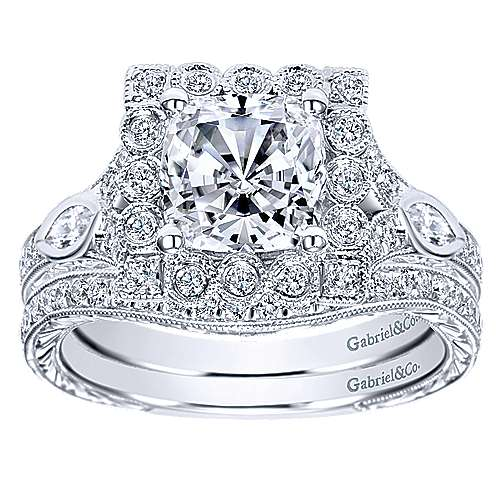 14K WG Dia. Engagement Ring   angle 4