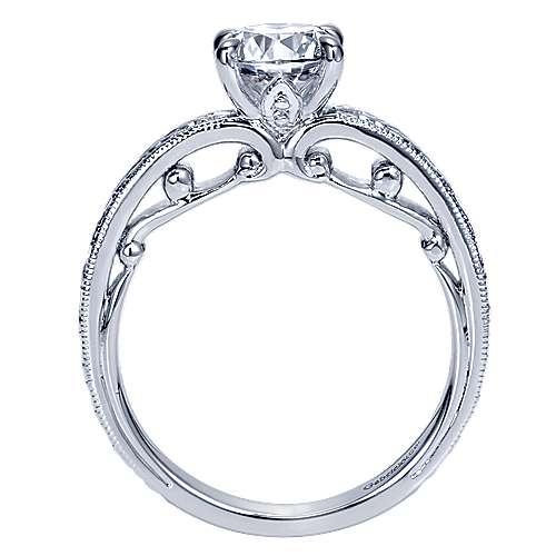 14K WG Engagement Ring    angle 2