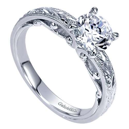 14K WG Engagement Ring    angle 3